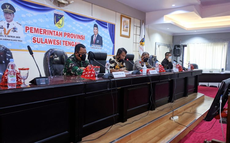 Gubernur Pimpin Rakor Penanganan Covid-19 Provinsi Sulteng Tahun 2021.