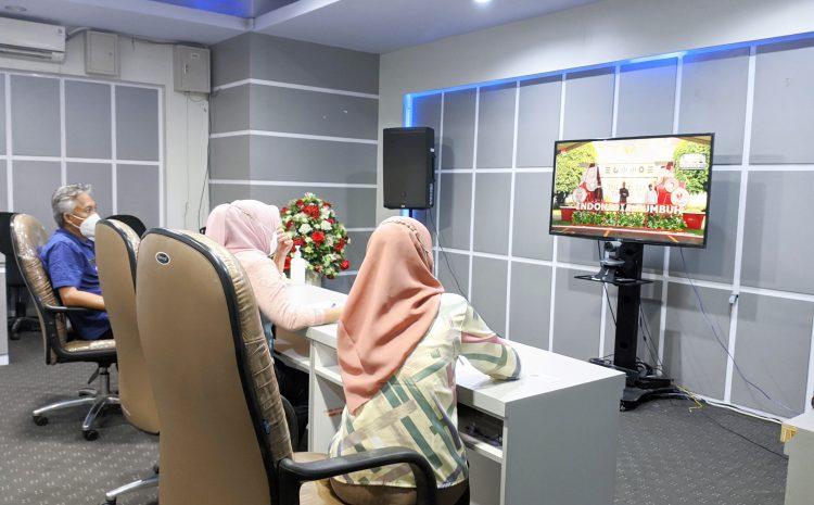 Kasub Bag Acara Biro Adpim Wakili Gubernur Ikuti Peluncuran Pendaftaran Upacara Virtual HUT Ke-76 Kemerdekaan RI Tahun 2021.
