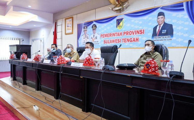 Sekda Provinsi Sulteng Ikuti Rakor dan Komunikasi Terkait keterlibatan Kontingen Sulteng pada PON XX Papua Tahun 2021.