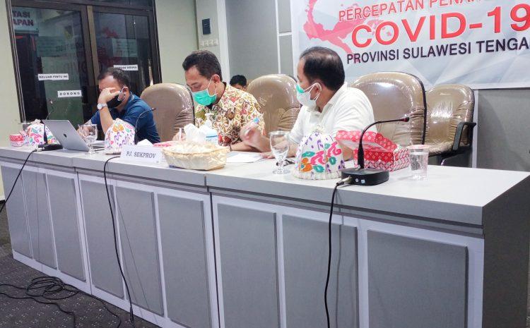 Kadis Kesehatan Provinsi Sulteng Ikuti Monitoring dan Evaluasi Penerapan PPKM Level 4 di Wilayah Sulawesi.