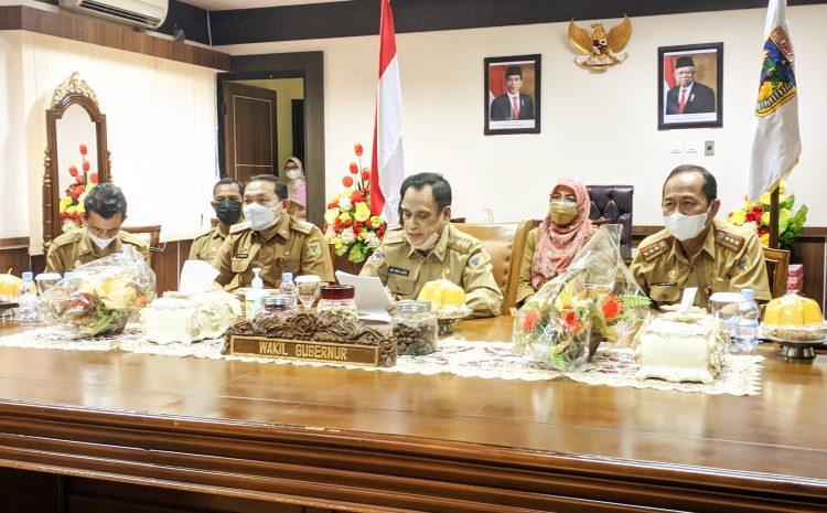 Wagub Sulteng Ikuti Rapat Evaluasi Reformasi Birokrasi Tahun 2021.