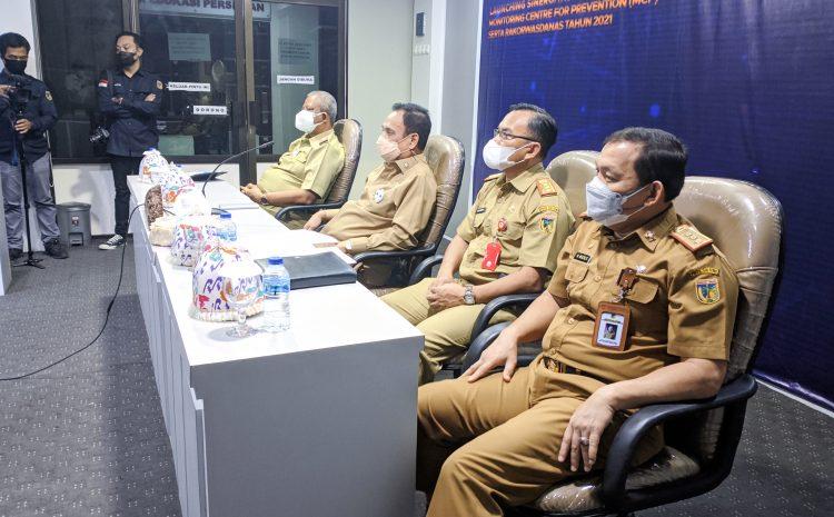 Wagub Sulteng Ikuti Launching Sinergitas Pengelolaan Bersama Monitoring MCP Serta Rakorwasdanas Tahun 2021.