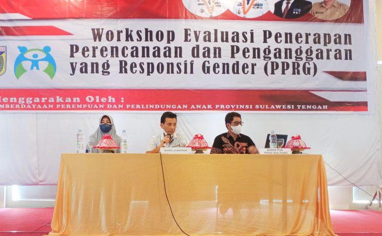 Wagub diwakili Plt. Kepala Bappeda Buka Secara Resmi Workshop Evaluasi PPRG.