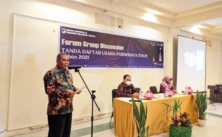 Pj. Sekda Provinsi Sulteng Buka Secara Resmi FGD Tanda Daftar Usaha Pariwisata secara Tatap Muka.