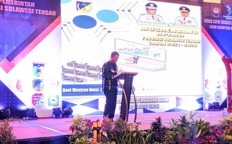 Gubernur Sulteng Buka Secara Resmi Musrembang RPJMD Provinsi Sulawesi Tengah Tahun 2021-2026.