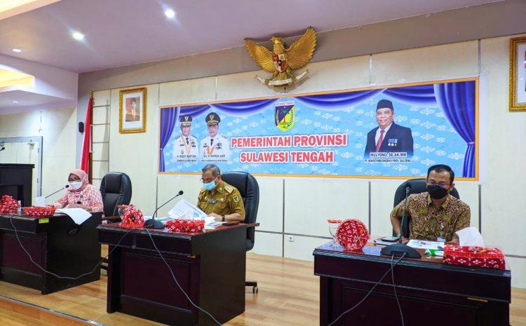 Pj. Sekda Provinsi Sulteng Pimpin Forum Pemangku Kepentingan Umum Tahap Kedua BPJS Kesehatan Tahun 2021.